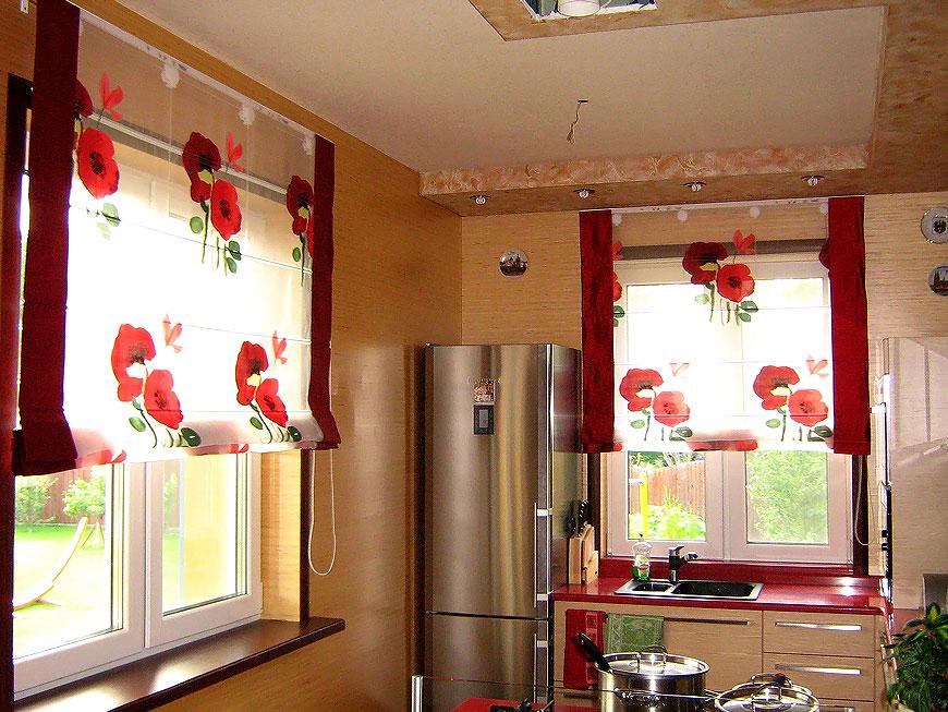 фото жалюзи вертикальные на кухне